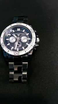 round silver-colored chronograph watch with link bracelet Santa Maria, 93454