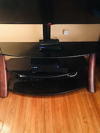 black wooden TV stand with mount Atlanta, 30354
