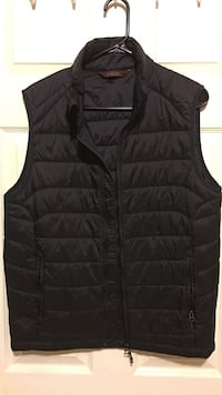 Black zip-up bubble vest