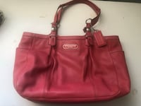 women's red leather tote bag Fairfield, 06824