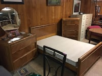Beautiful 1940/50's waterfall bedroom set!! fantastic condition!