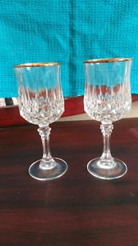 2*Gold Rimmed Crystal Wineglasses Oklahoma City, 73127