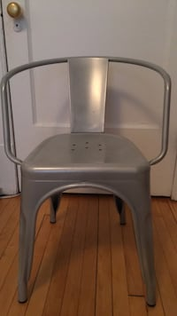 Gray and white metal industrial chair Montréal, H3H