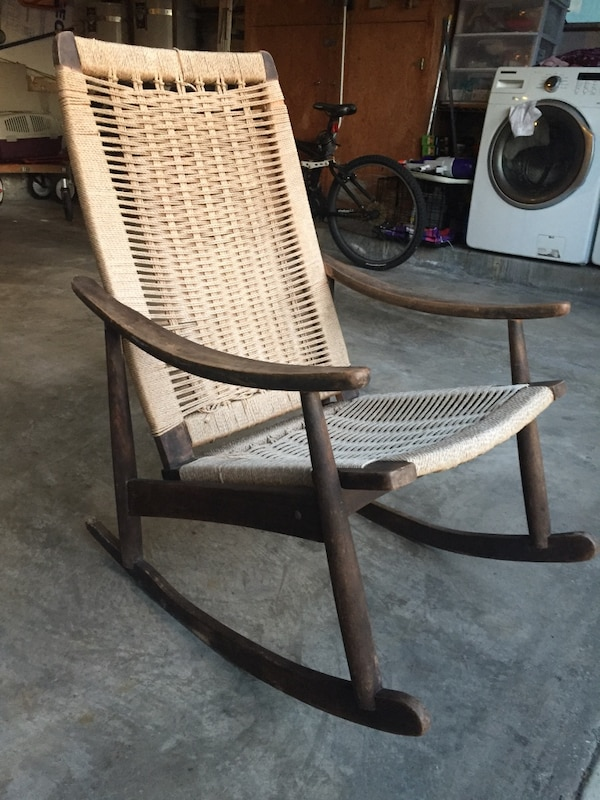 Fabulous Vintage Made In Yugoslavia Woven Rope Rocking Chair Ocoug Best Dining Table And Chair Ideas Images Ocougorg