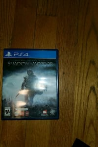 PS4 GAME-SHADOW MORDOR  GAME DISC WITH BOOKLET AND NON CRACKED CASE