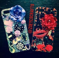 two black and pink floral print iPhone cases Inkster, 48141