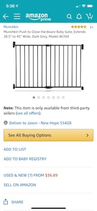 2 baby gates for sale  New Hope, 55428