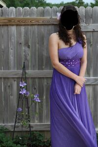 Long one shoulder purple dress Broken Arrow, 74014