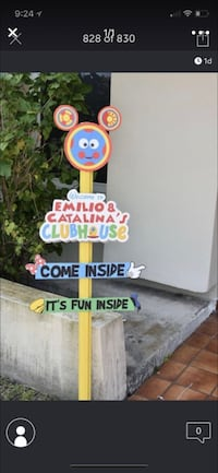 Mickey mouse clubhouse entry sign Miami, 33175