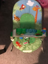 baby's green and white bouncer 2334 mi