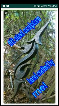 Hand crafted metal sculpture