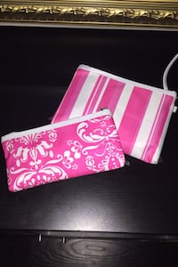Pink-n-White Pencil Cases