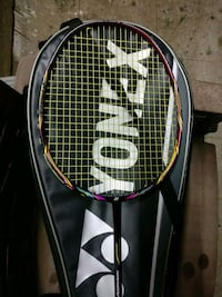 black and white badminton racket 12862 km