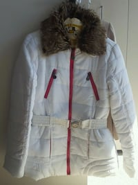 Womens Jacket with Faux Fur Collar