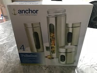 Anchor Stainless Steel Canister Set BNIB Port Moody, V3H