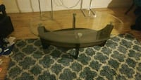 brown wooden framed glass top coffee table Baltimore, 21201