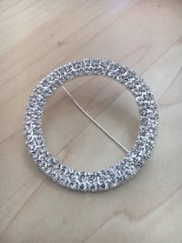 Bling chair band clips.  wedding decor Vancouver, V6Z