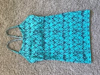 Ivviva teal and navy blue scoop-neck tank Central Okanagan, V4T 3L6