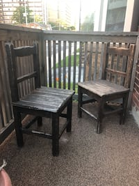 2 antique hand made wooden chairs Hamilton, L8P 1R1