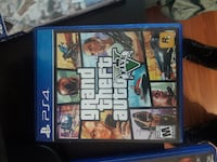 Grand Theft Auto Five PS4 game case