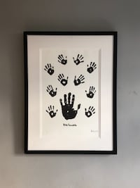 Nelson Mandela lithograph signed hand print London