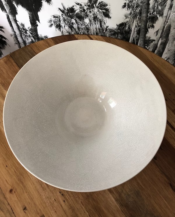 "IKEA Ceramic Creamy White Coffee Table Large Bowl 14"" 2"