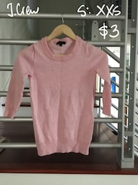 J. Crew pink sweater top XXS Cerritos, 90703