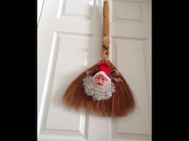 Santa Head Broom