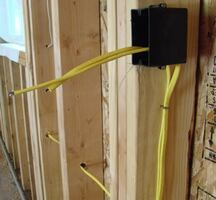 Electrical installation in the edmonton area.
