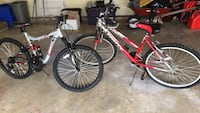 red and white hard tail mountain bike Silver Spring, 20906