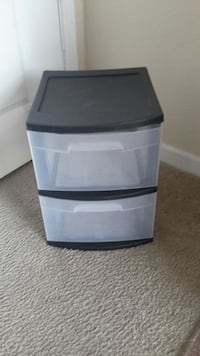 Steralite 2-drawer plastic storage container