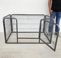 "New $70 Heavy Duty 49""x32""x28"" Pet Playpen Dog Crate Kennel Exercise Cage Fence, 4-Panels Whittier"