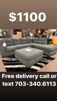 Sectional + Ottoman + Free delivery Temple Hills, 20748