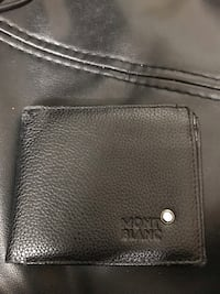 Black leather Mont Blanc wallet Montréal, H3W 1L1
