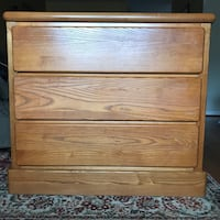 3 drawer wood dresser*nice large drawers*delivery available.