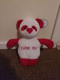 white and red i love you bear plush toy Woodinville, 98072