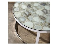 round white wooden coffee table collage Livingston, 07039