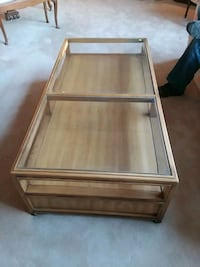 Wood and glass top coffee table Rockville, 20854
