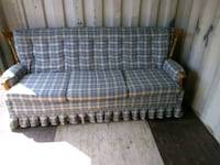 Blue and cream plaid fabric sofa Hagerstown, 21740