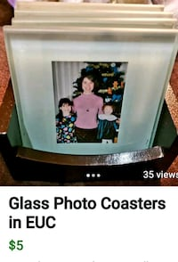 Glass coaster photo frames College Station, 77845