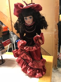 porcelain doll in red dress Troy, 48085