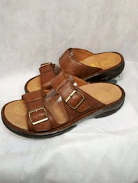 Brand new in box genuine leather slippers
