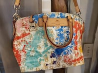 Dooney & Bourke Paint Splatter Handbag with Matchi Dallas