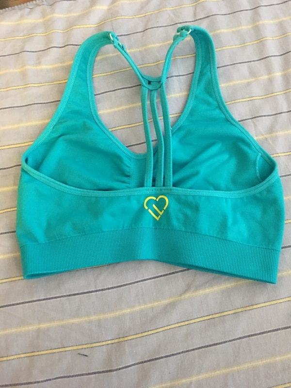 e06c331233 Used Aeropostale Live Love Dream Sports Bra - Teal - Size S - pickup ...