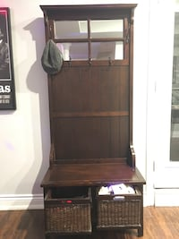 Mud room coat and accessories rack and bench Toronto, M9B 4L2