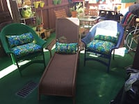 faux wicker chase lounge two chairs Lakeside, 92040
