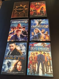8 assorted DVD's  Woodbridge, 22193