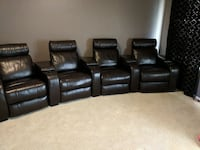 Theater seating, 4 power recliners (expresso)