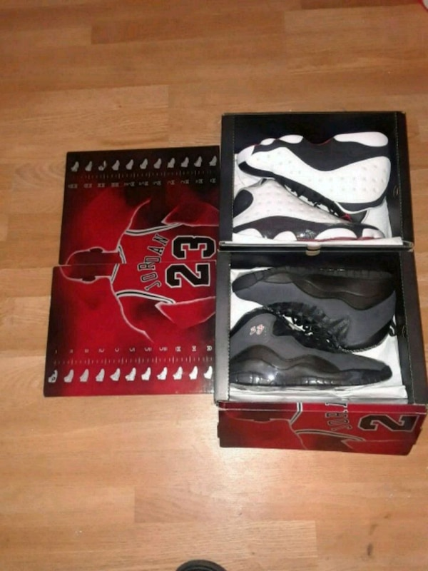 huge selection of cc004 36d5f He got game retro 13s and 10s club down package