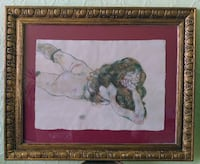 ANTIQUE MIXED MEDIA PAINTING ON PAPER. Oldenburg
